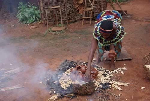 cuisson des poteries