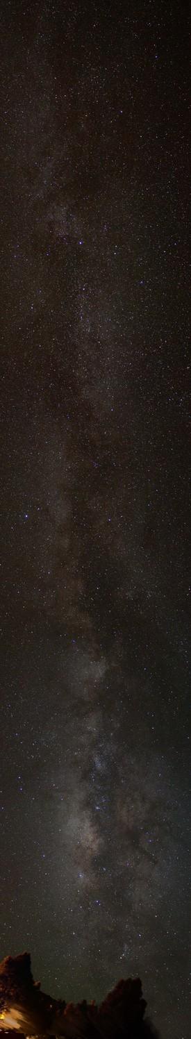 Milchstraße über La Palma zweiter Versuch