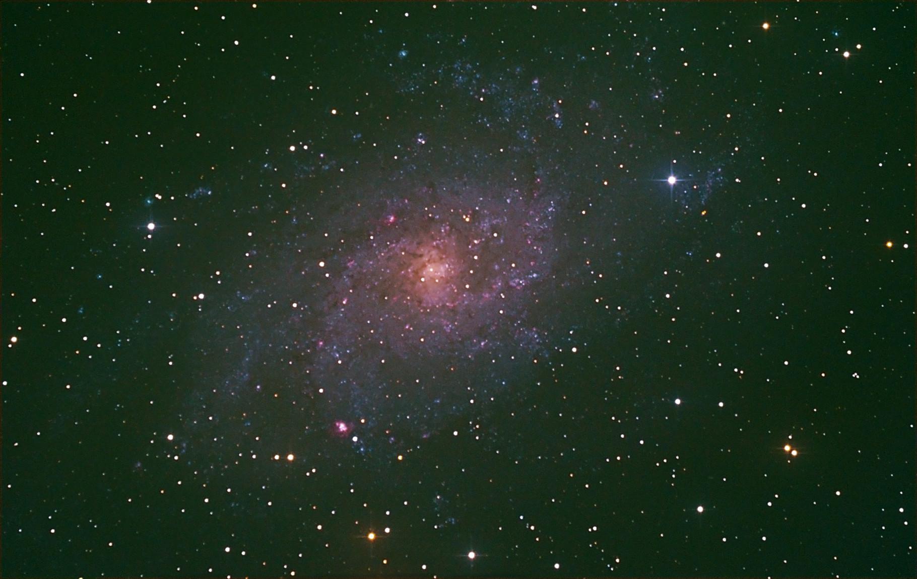 """Astrofotografie"" M33  ""Was geht ohne Autoguiding"" ?"