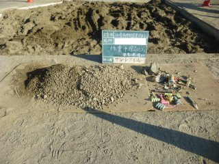 砂場から出たゴミ