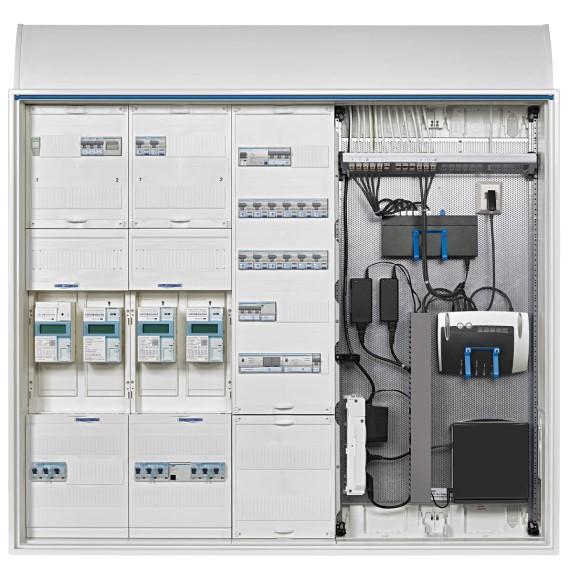Technikzentrale und Stromzähler (www.hager.de)