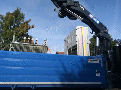 Anlieferung 1000kVA Trafo und NSHV