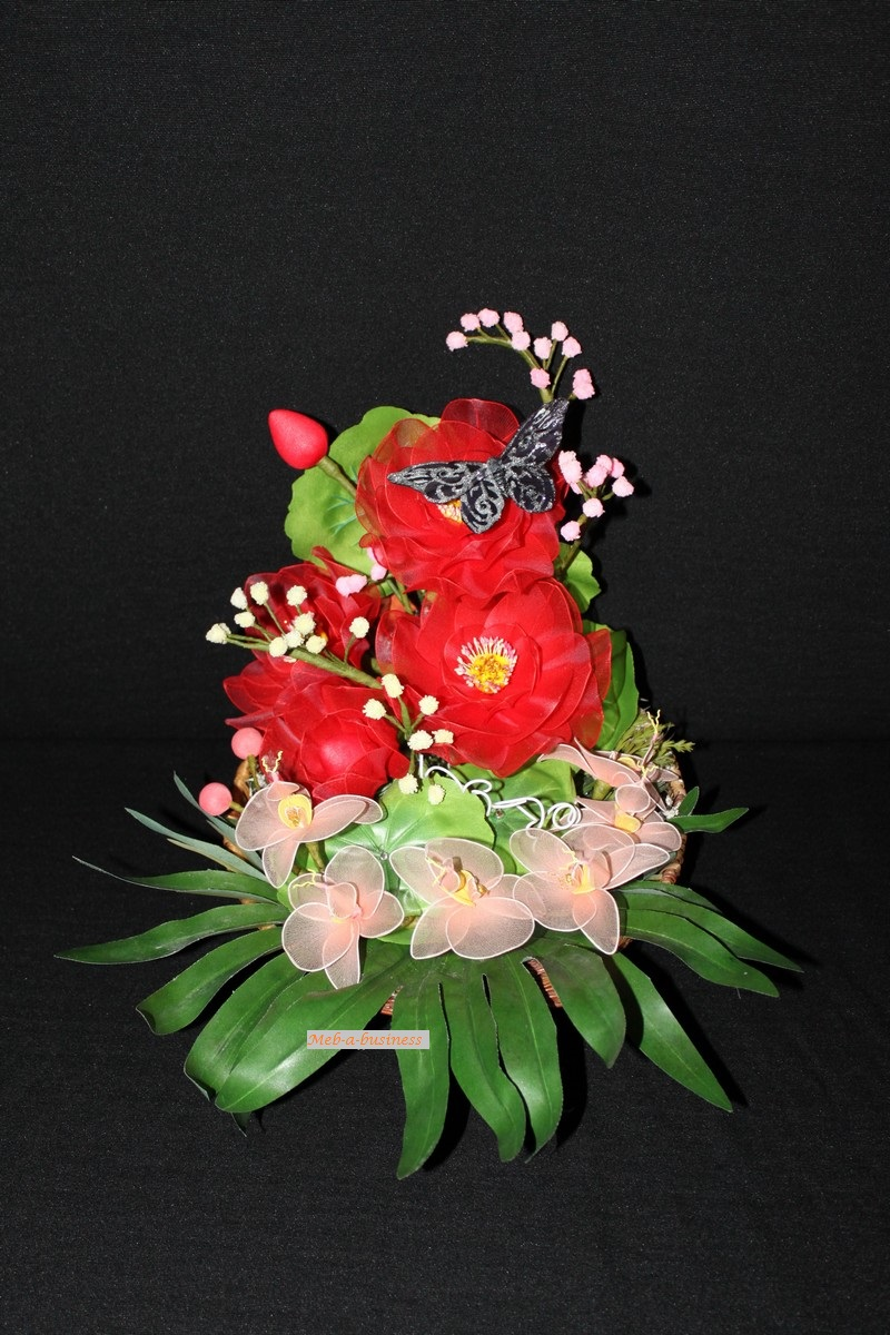 Orchidée cattleya,Nénuphar,Gypsophil