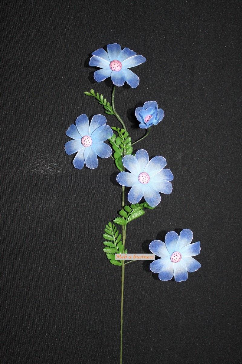 Cosmos bleu électrique dégradé bleu ciel