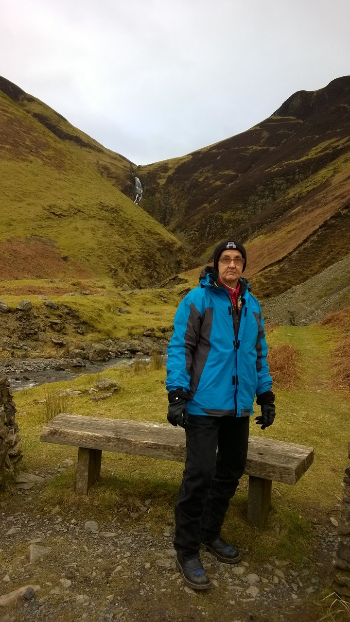 Me in front of Grey Mare's Tail