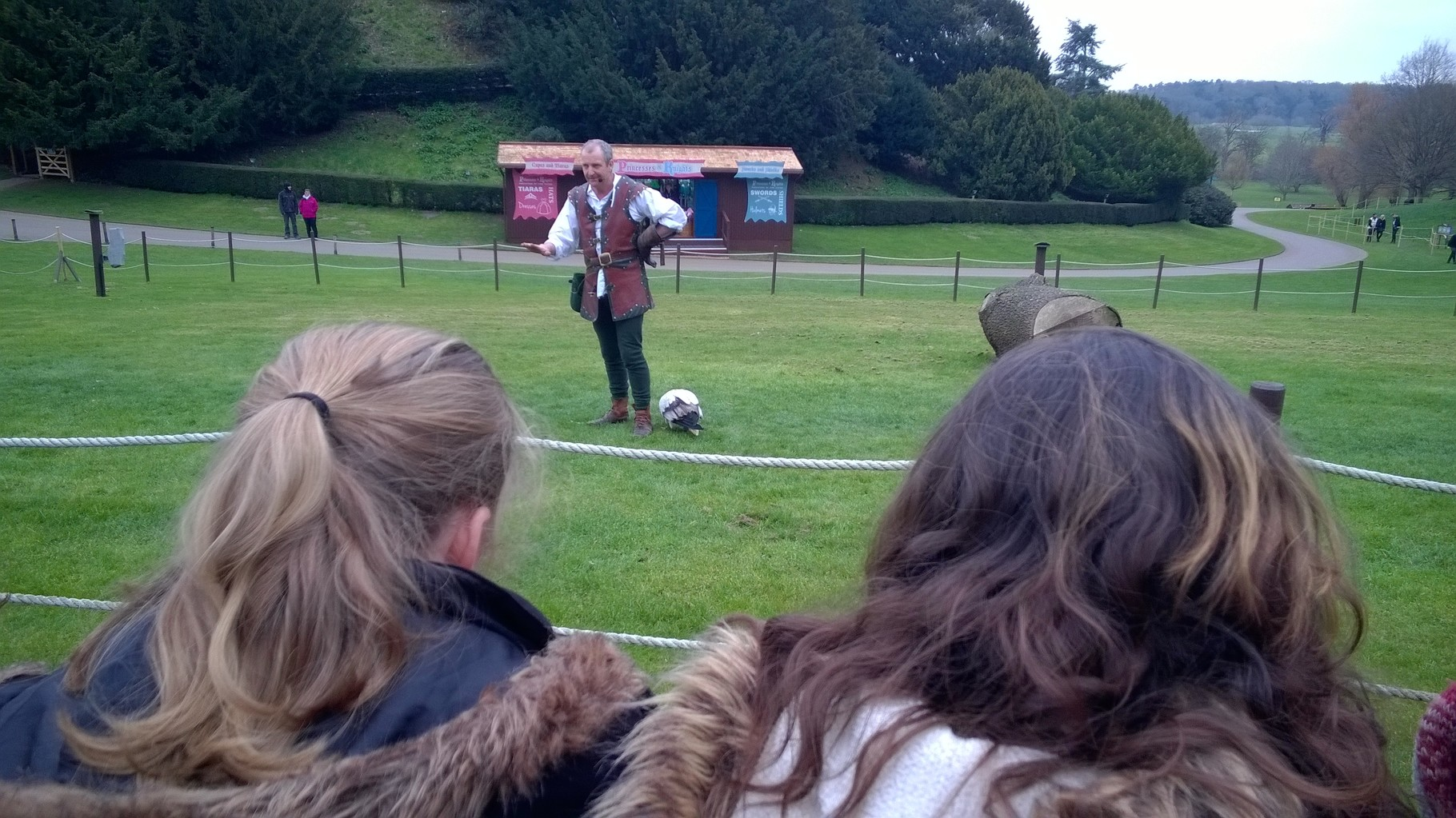 He seemed to think if he pecked at the handler he would get fed and not have to carry on his comedy routine further.