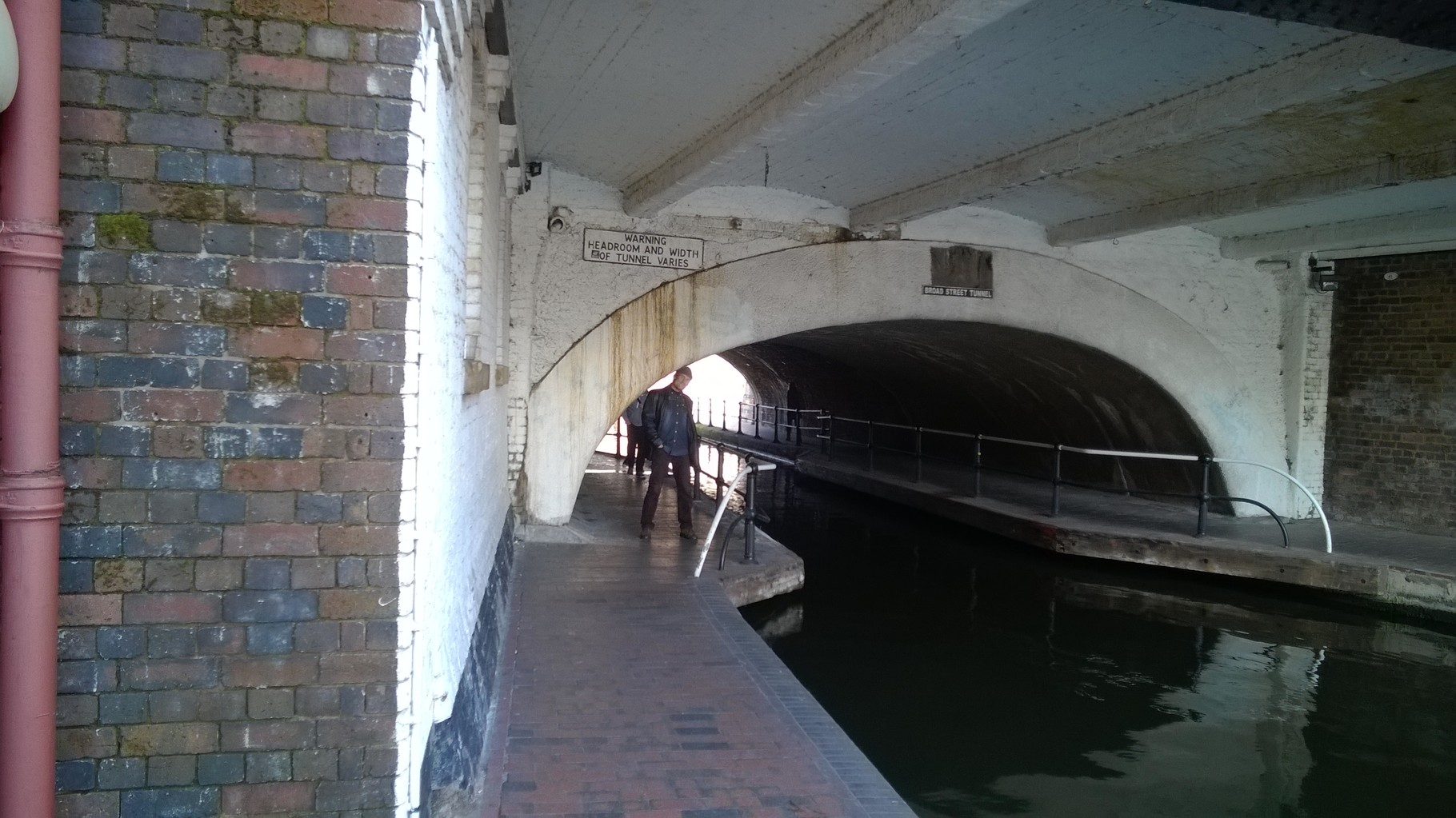 Jenya had to duck under some of the bridges over the canals.