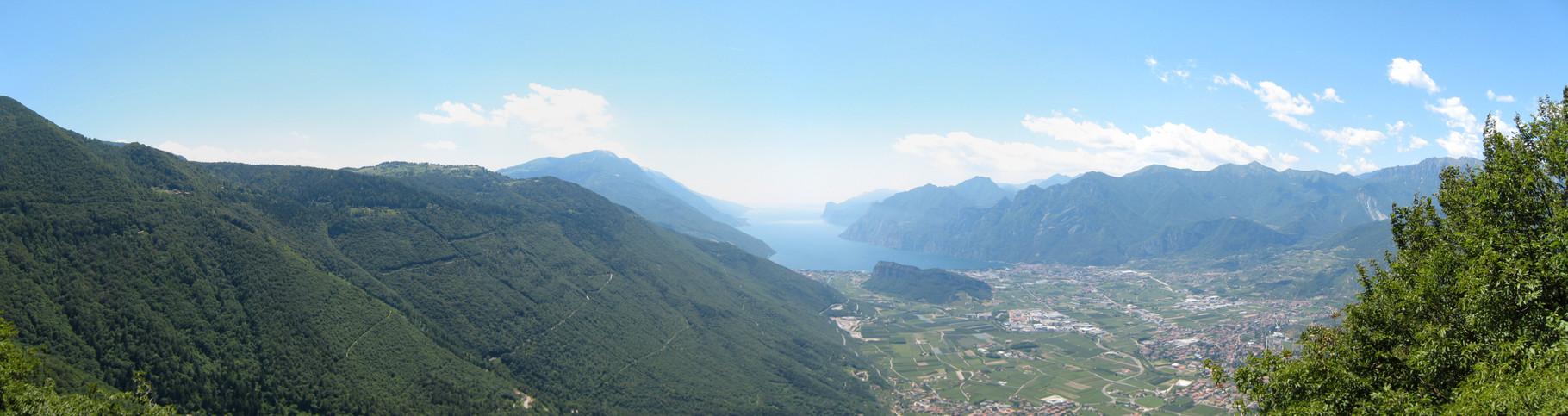 Panorama über den Lago die Garda