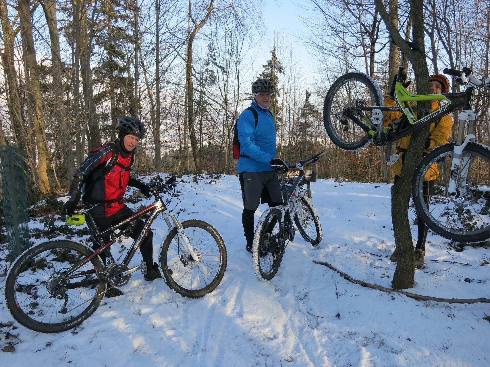 Biken im Schnee...