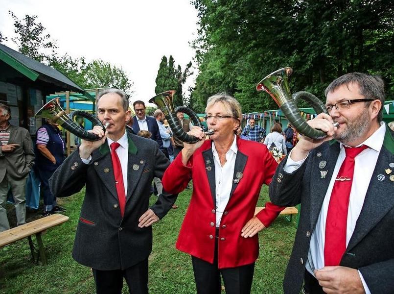 70 Jahre SDW: Musik vom Bläsercorps.  Quelle: Fotograf: Lutz Roeßler