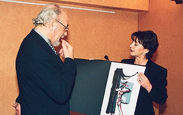 Il baritono Renato Bruson a Lugano, 2002