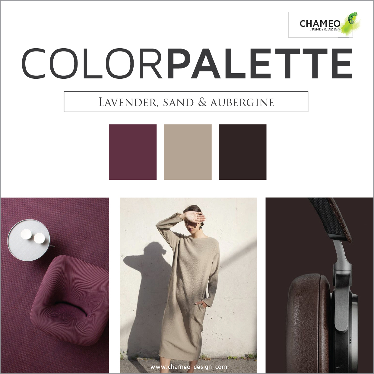 Chameo Design Color palette -CMF Design services