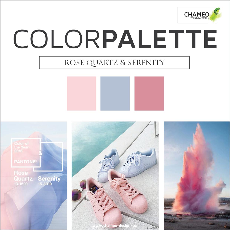 Pantone trend rose quartz & serenity