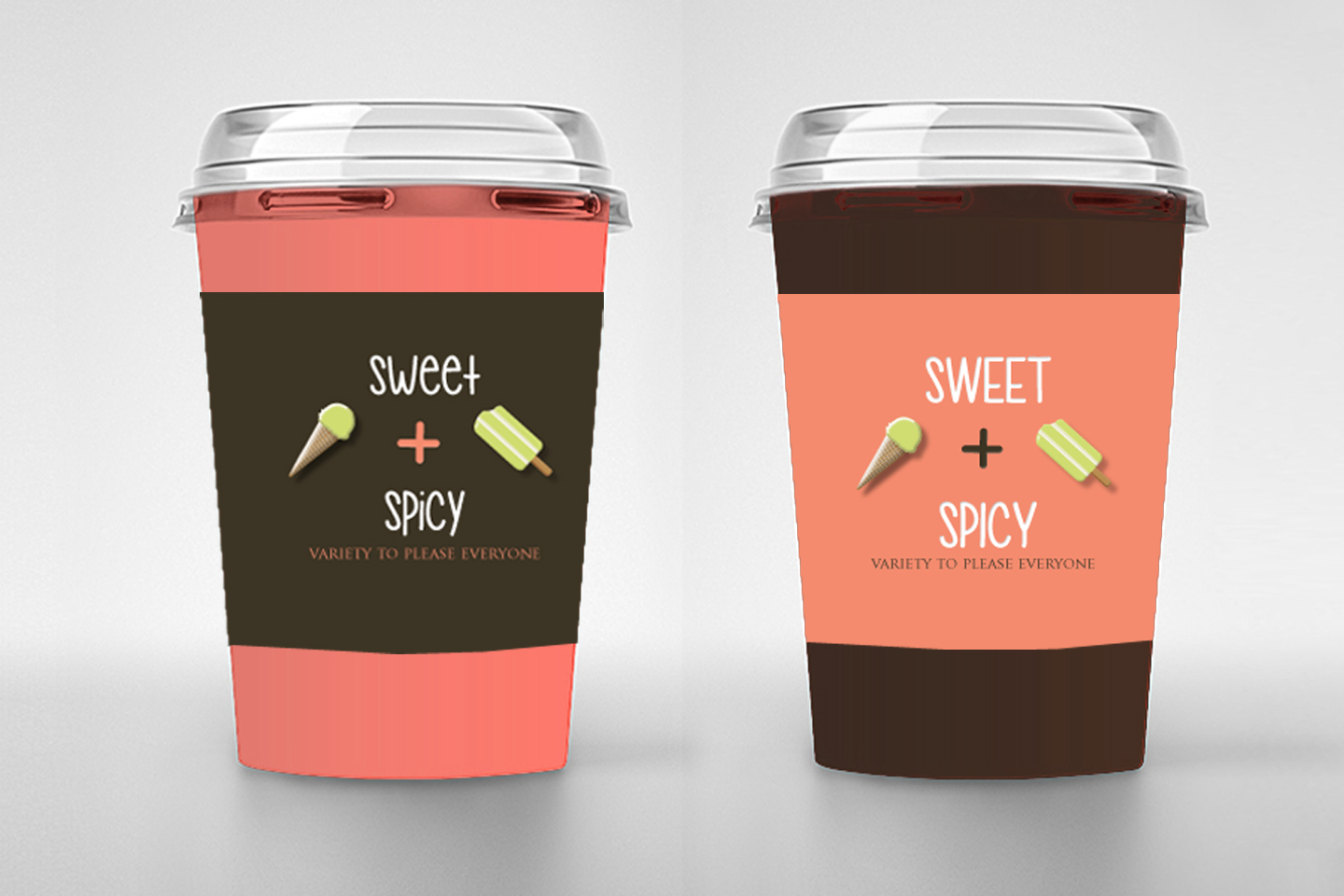 "Branding design for ""Sweet & Spicy"" an US icecream & latinsnacks restaurant"