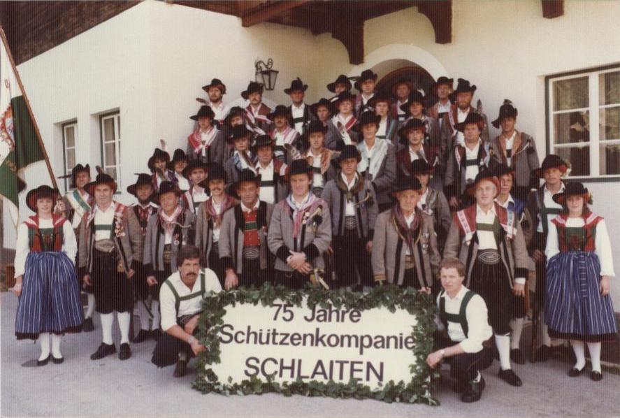 75-Jahre-Feier der Schützenkompanie Schlaiten 1984