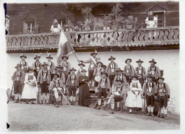 Schützenkompanie Schlaiten um 1910