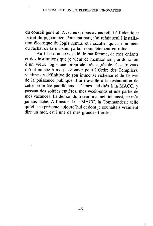 """G. Lavrard - """" Itinéraire d'un entrepreneur innovateur """" - 1997 p.46"""