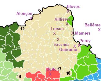 Etendue du Saosnois avant l'an 1000