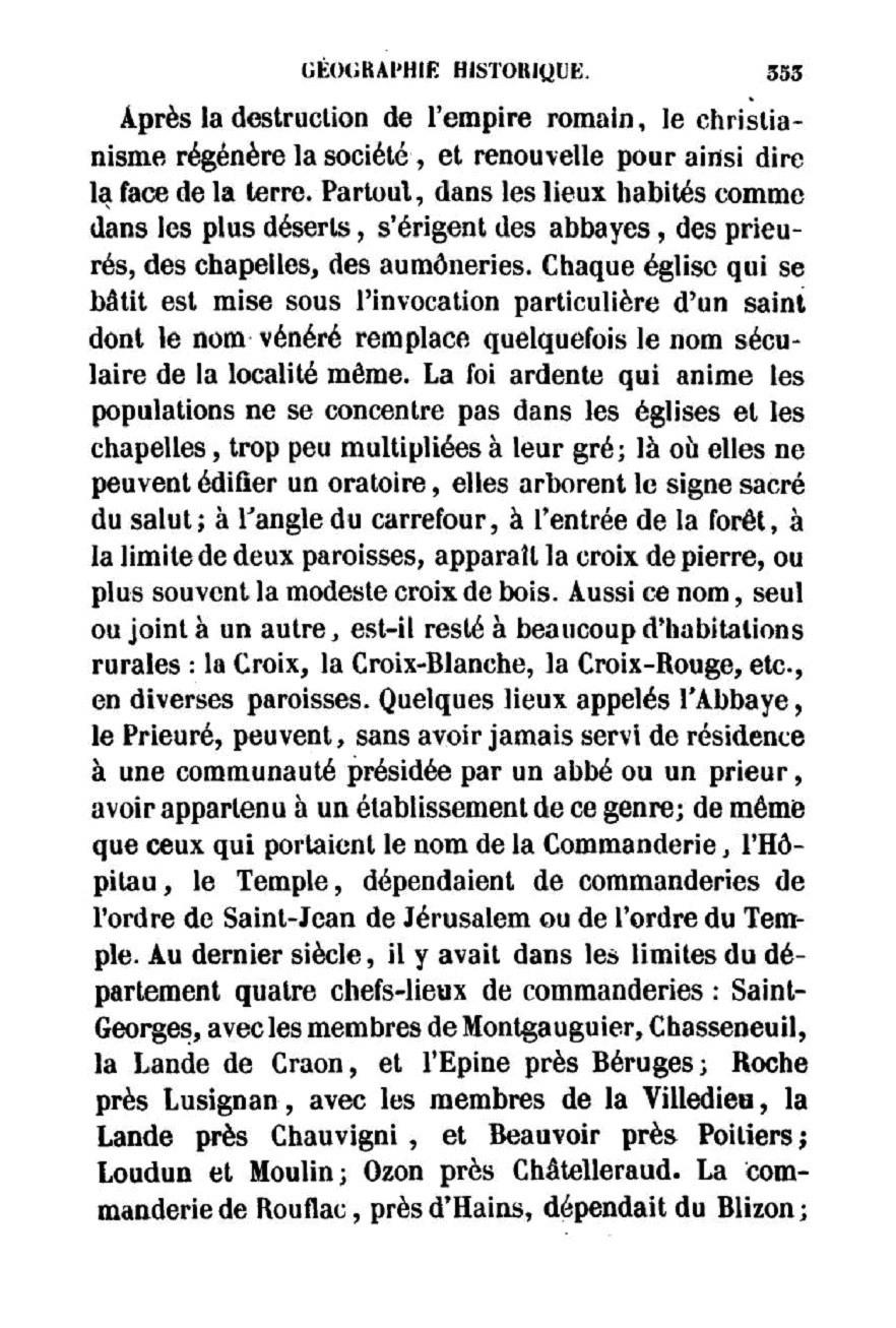 Rédet - Observations sur les noms de lieux dans le departement de la Vienne – 1846 - p.353