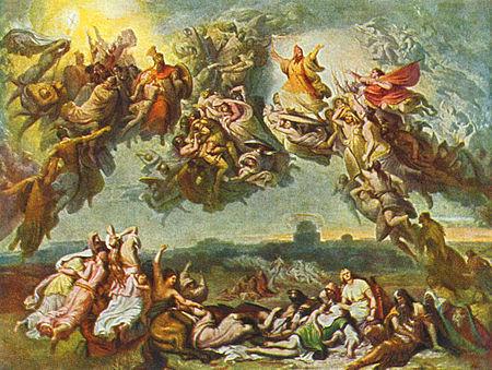 Wilhelm von Kaulbach : bataille des Champs Catalauniques