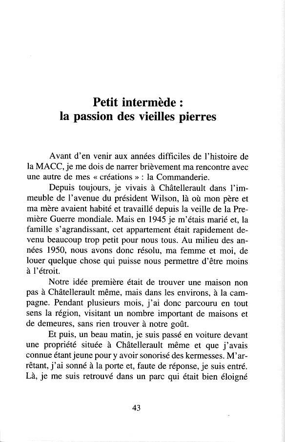 """G. Lavrard - """" Itinéraire d'un entrepreneur innovateur """" - 1997 p.43"""