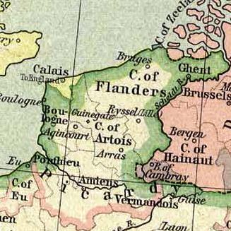 Limite entre le conté de Flandre et le comté d'Artois