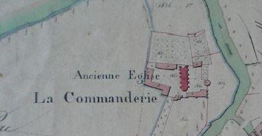 La commanderie d'Auzon sur le cadastre napoléonien