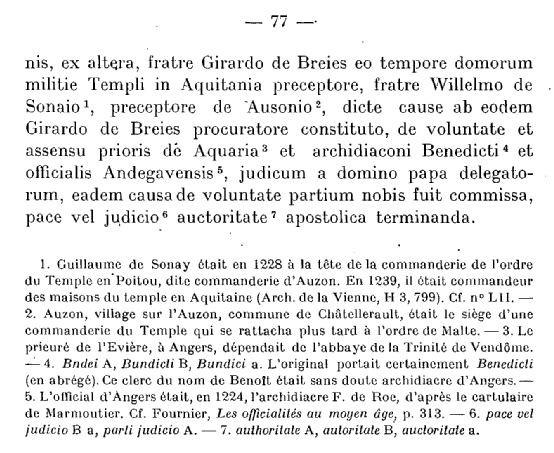 Archives Historiques du Poitou Tome XLIV - 1923 - Documents concernant la ville de Poitiers 1063-1327 - page 77