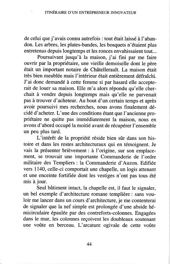 """G. Lavrard - """" Itinéraire d'un entrepreneur innovateur """" - 1997 p.44"""