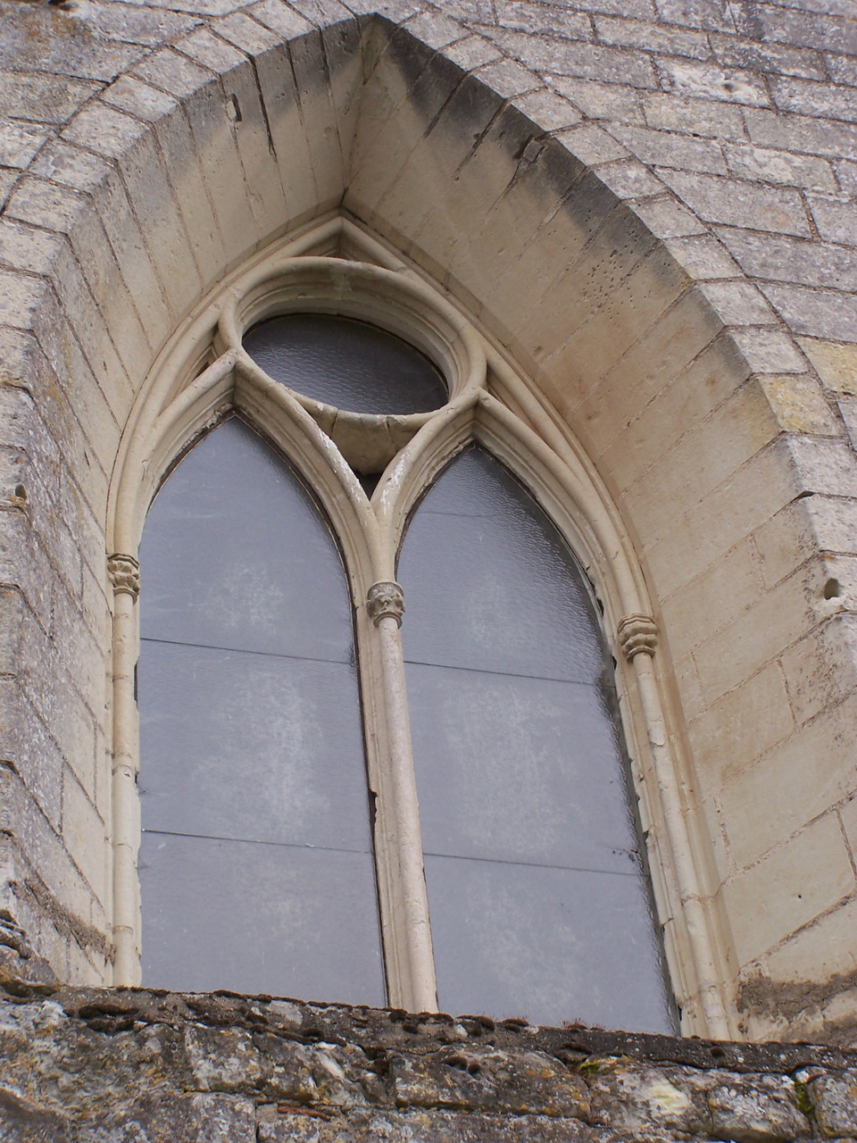baie gothique de la façade