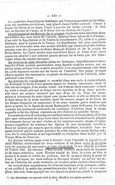 """Longuemar 1881 """" Anciennes fresques des églises du Poitou """" p.139"""