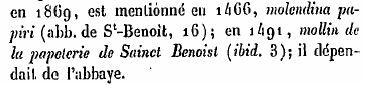 """Rédet 1881 """" Dictionnaire topographique de la Vienne """" citations de la Commanderie d'Auzon"""