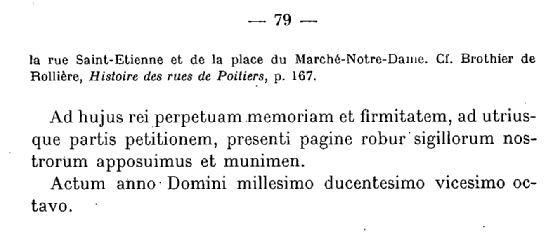 Archives Historiques du Poitou Tome XLIV - 1923 - Documents concernant la ville de Poitiers 1063-1327 - page 79