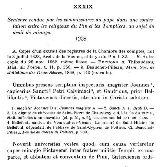 Archives Historiques du Poitou Tome XLIV - 1923 - Documents concernant la ville de Poitiers 1063-1327 - page 76