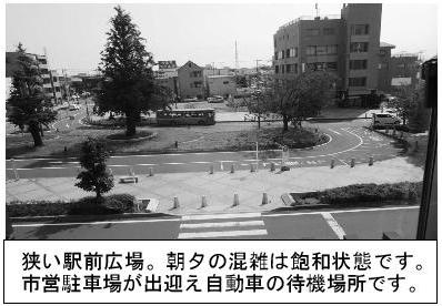 北本駅東口の狭い駅前広場