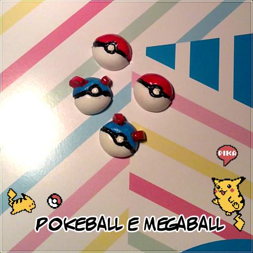 Orecchini a lobo Pokeball e Megaball, possibilità di creare qualsiasi altra sfera pokè - 5€