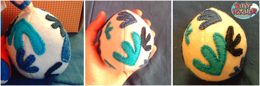 Ovetto in peluche dal videogioco 'Billy Hatcher', completamente cucito a mano in pannolenci, 10 cm.  10€