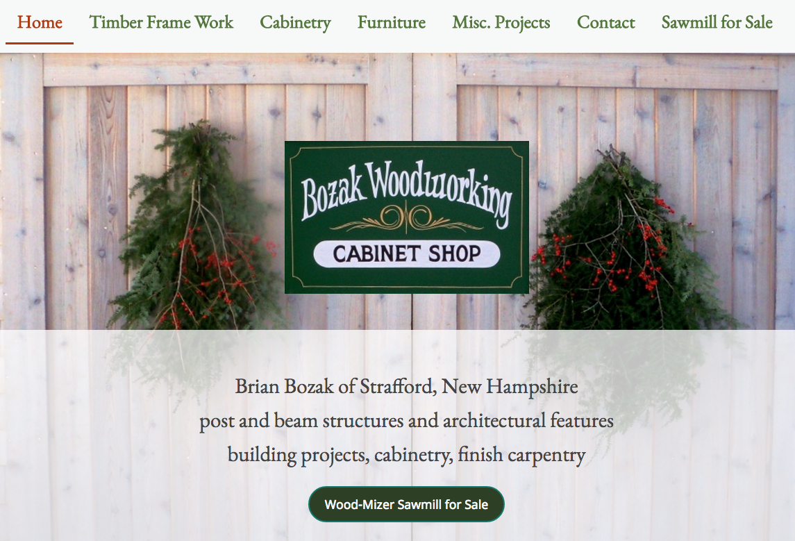Woodworker Websites, Online Portfolios