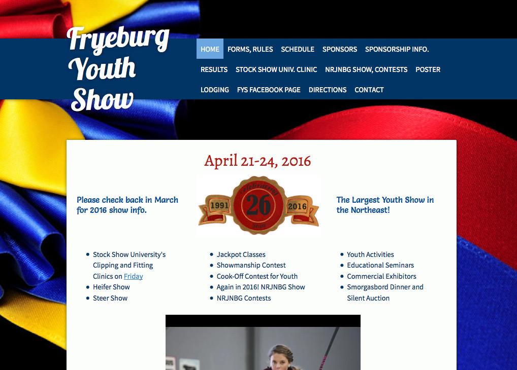 Event Websites -- information, registration forms, contact, etc.