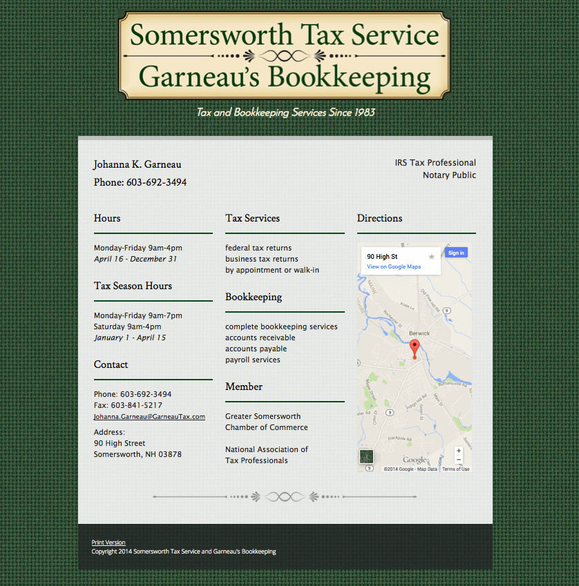 Professional Service Websites