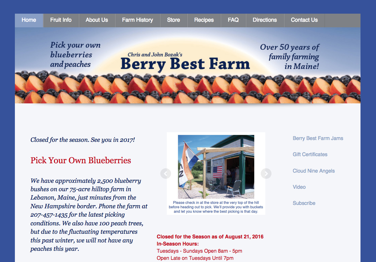 Farm, Agritourism Websites
