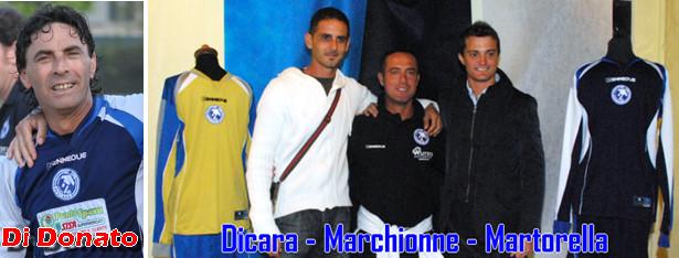 Nella foto quattro prodotti del vivaio della Pescara Nord: Giuseppe Di Donato, Giacomo Dicara, Luigi Marchionne e Antonio Martorella