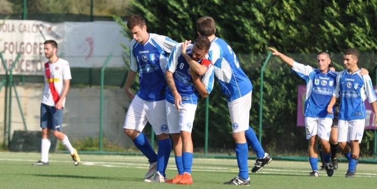 44'pt - Esultanza gol di Alberto Enzini