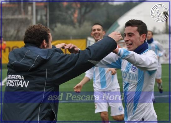 Esultanza Alberto Enzini (Stagione 2010/11)