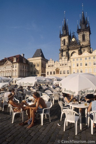 Kafee-pause in Prag