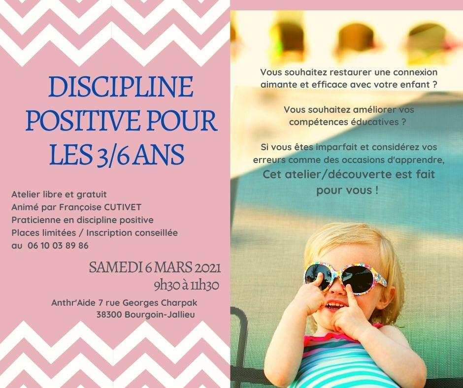 Discipline Positive pour les 3/6 ans.