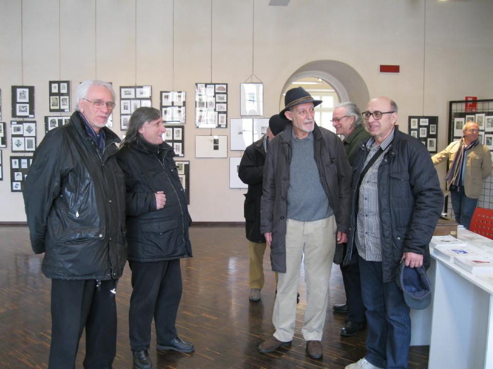 Da sx Cavalli, Penna, Romano Gerola e Angelo Arrigoni.