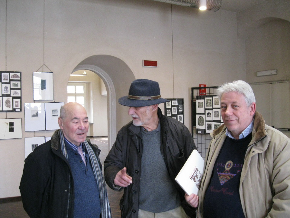 Da sx Bernasconi, Romano Gerola e Barola.