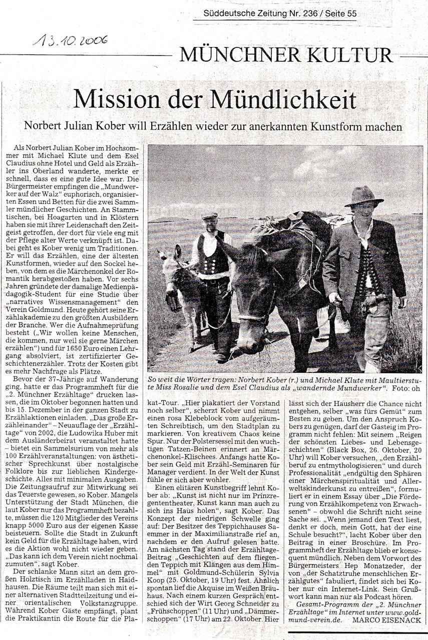 Süddeutsche Zeitung - 13.10.2006