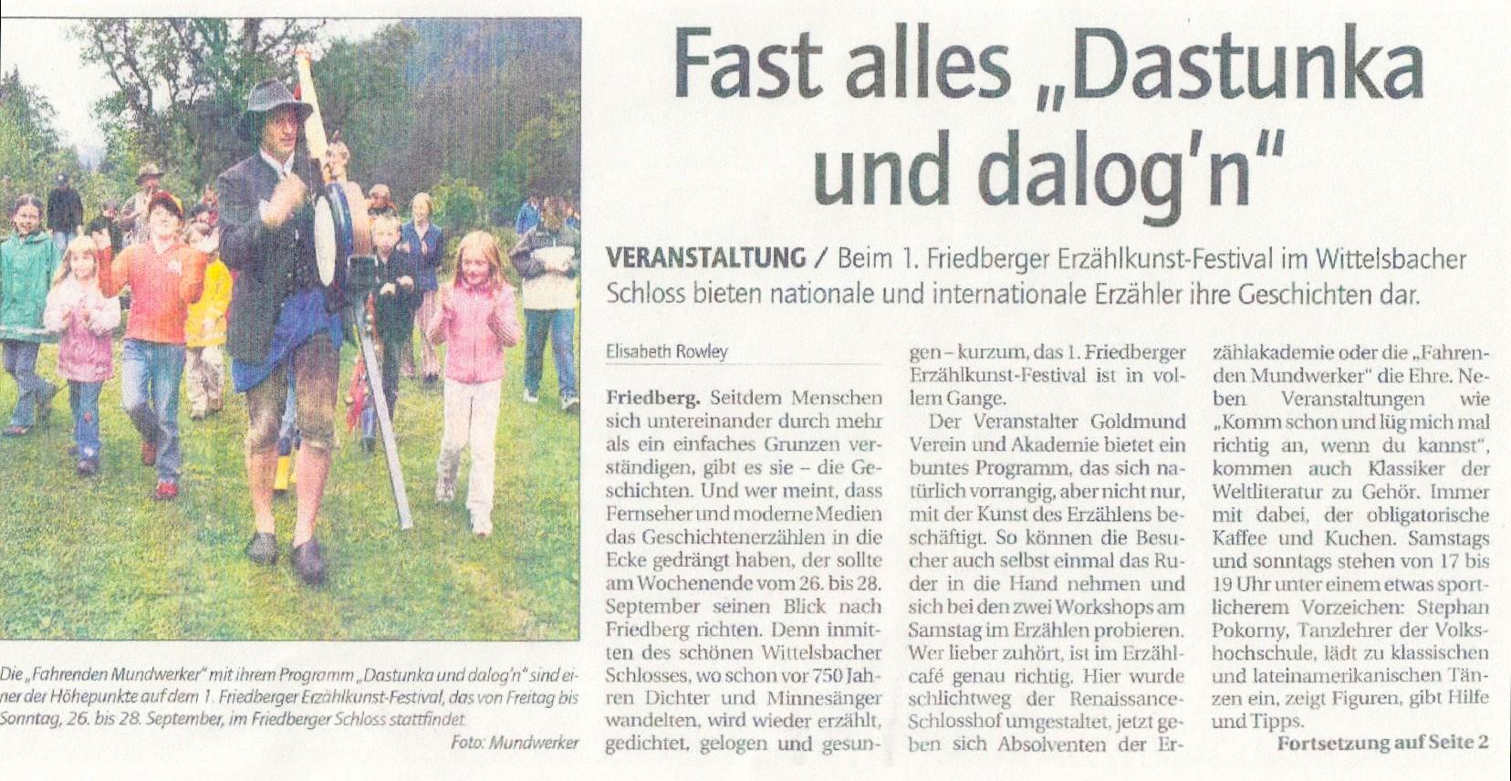 Friedberger Zeitung - 29.09.2008